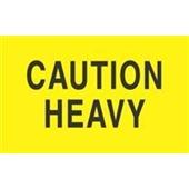 """#DL2101 3 x 5"""" Caution Heavy Label"""
