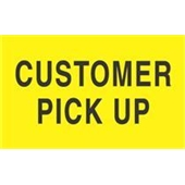 "#DL2121 3 x 5"" Customer Pick Up Label"