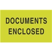 "#DL2141 3 x 5"" Documents Enclosed Label"