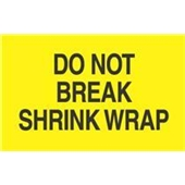 "#DL2181 3 x 5"" Do Not Break Shrink Wrap Label"
