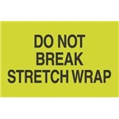 "#DL2201 3 x 5"" Do Not Break Stretch Wrap Label"