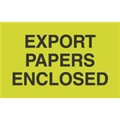 "#DL2401 3 x 5"" Export Papers Enclosed Label"