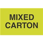 "#DL2501 3 x 5"" Mixed Carton Label"