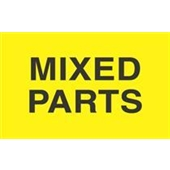 "#DL2521 3 x 5"" Mixed Parts Label"