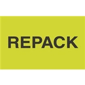 "#DL2621 3 x 5"" ""REPACK"" Label"