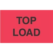 "#DL2661  3 x 5""  Top Load  Label (Flourescent Red/Black)"