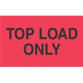"#DL2681  3 x 5""  Top Load Only Label (Flourescent Red/Black)"