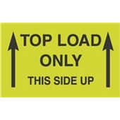 "#DL2701 3 x 5"" Top Load Only Label This Side Up (Arrows)"