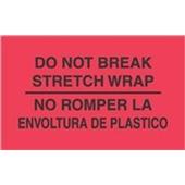 """#DL3031 3 x 5"""" No Rompar La Envoltura Plastico - Bilingual Label"""