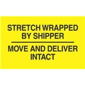 "#DL3172  3 x 5""  Stretch Wrapped by Shipper / Move and Deliver Intact Label"