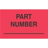 "#DL3201 3 x 5"" Part Number Label"