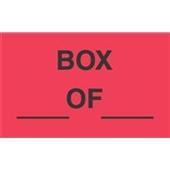 "#DL3221 3 x 5"" Box ___ OF ___ Label"