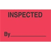 "#DL3281 3 x 5"" Inspected By _____ Label"