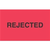 "#DL3481 3 x 5"" ""Rejected"" Label"