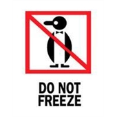 "#DL4020 3 x 4"" Do Not Freeze (Penguin) Label"