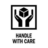 "#DL4160 3 x 4"" Handle with Care Label"