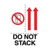 "#DL4481 3 x 4"" Do Not Stack (Boxes,Arrows) Label"