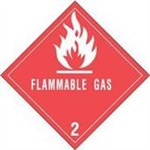 "#DL5070 4 x 4"" Flammable Gas - Hazard Class 2 Label"