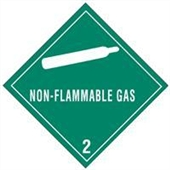 "#DL5100 4 x 4"" Non-Flammable Gas - Hazard Class 2 Label"