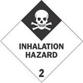 """#DL5112 4 x 4"""" Inhalation Hazard - Hazard Class 2 Label"""
