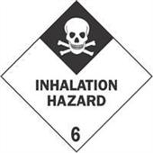"""#DL5191 4 x 4"""" Inhalation Hazard - Hazard Class 6 Label"""