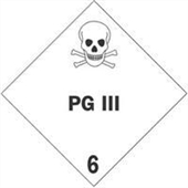 "#DL5201 4 x 4"" PG III - Hazard Class 6 Label"