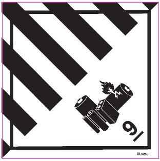 "#DL5260 4 x 4"" Miscellaneous - Hazard Class 9 Label"