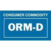 "#DL7030 2 1/4 x 1 3/8"" ORM-D Consumer Commodity Label"