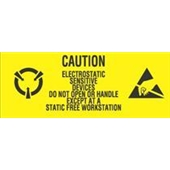 "#DL9060 1 x 2 1/2"" Caution Electrostatic Sensitive Devices- Do Not Open Label"