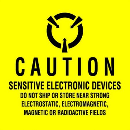 "#DL9100 4 x 4"" Sensitive Electronic Devices Label"
