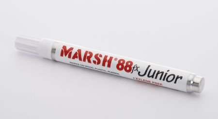 Marsh M88FX Junior Paint Marker, White (12/pk)