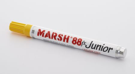 Marsh M88FX Junior Paint Marker, Yellow (12/pk)