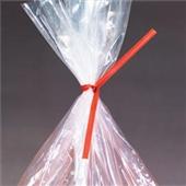 "5"" x 3/16"" Red Paper Twist Ties (1000/bag)"