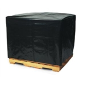 "51 x 49 x 73"" 3 Mil Black Pallet Covers/Bin Liners with UVI Additive (50/case)"