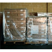 "68 x 65 x 87"" 3 Mil Clear Pallet Covers/Bin Liners (50/roll)"
