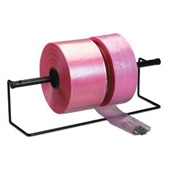 "15"" X 1,075` 4 Mil Pink Heavy-Duty Anti-Static Poly Tubing"