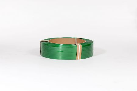 "5/8"" x 3,800` .030 1100# 16 x 6  Smooth Green Polyester Strapping (each)"