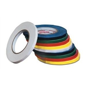 "3/8"" x 180 Yds. White Bag Tapes (96 rolls/case)"