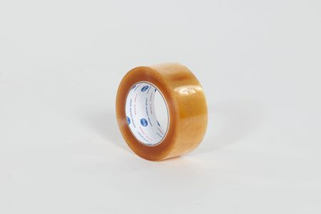 "FINAL SALE: 2"" x 55 yds. 2.3 Mil Central #510 Heavy Duty Clear Natural Rubber Carton Sealing Tape (36/Case)"