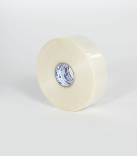"3"" x 1000 yds. 1.9 Mil Medium Grade Clear Hot Melt Carton Sealing Tape (4/Case)"