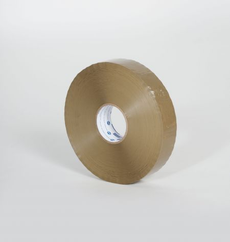 "2"" x 1000 yds. 1.9 Mil Medium Grade Tan Hot Melt Carton Sealing Tape (6/Case)"