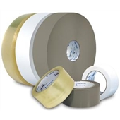 "2"" x 1500 yds. 1.9 Mil Medium Grade Clear Hot Melt Carton Sealing Tape (6/Case)"