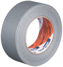 "3"" x 60 yds. (72mm x 55m) 6 Mil Silver Cloth Duct Tape (16/Case)"