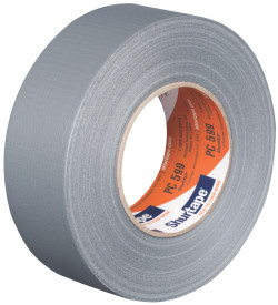 "3"" x 60 yds. (72mm x 55m) 9 Mil Silver Cloth Duct Tape (16/Case)"